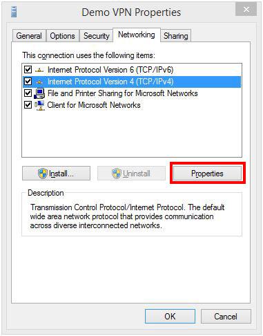 Networking-Tab-Properties